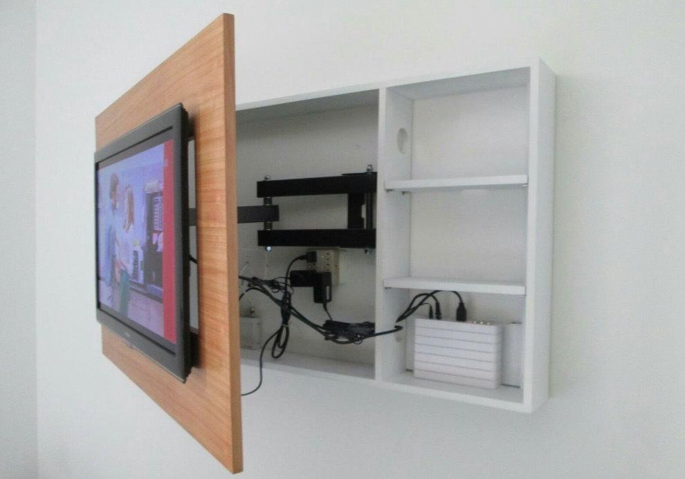 Шкаф для кабелей и проводов от телевизора