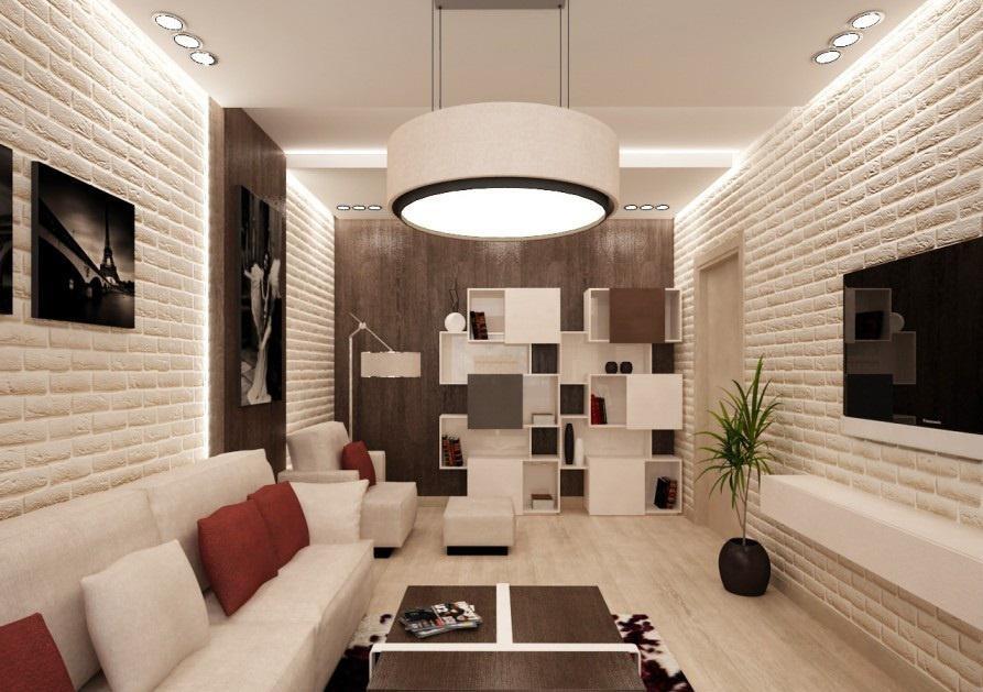 мебель для узкой гостиной