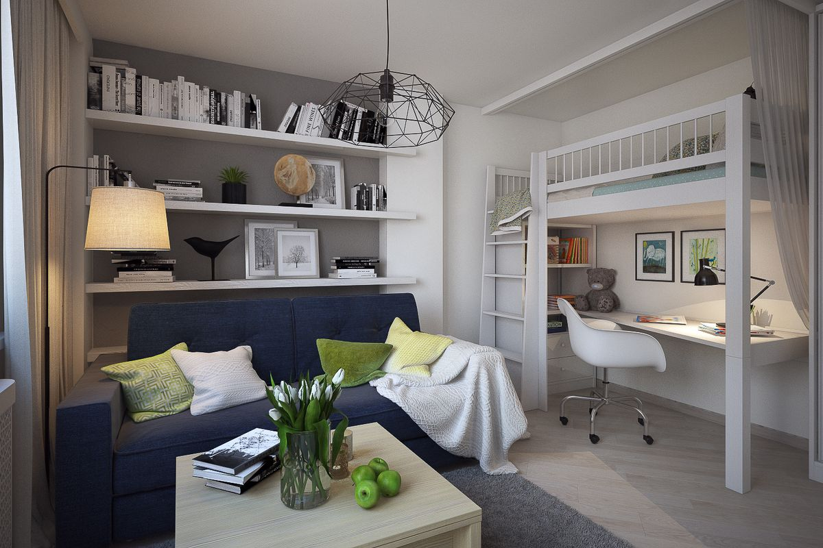 мебель в маленькой комнате