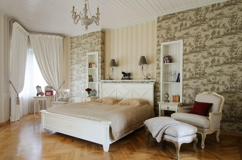 Классическая мебель в большой спальне