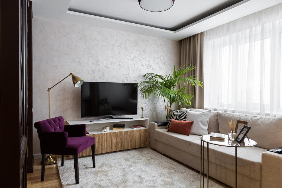 Меблировка компактной гостиной в однушке