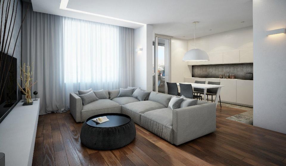 Однокомнатная квартира в стиле минимализма