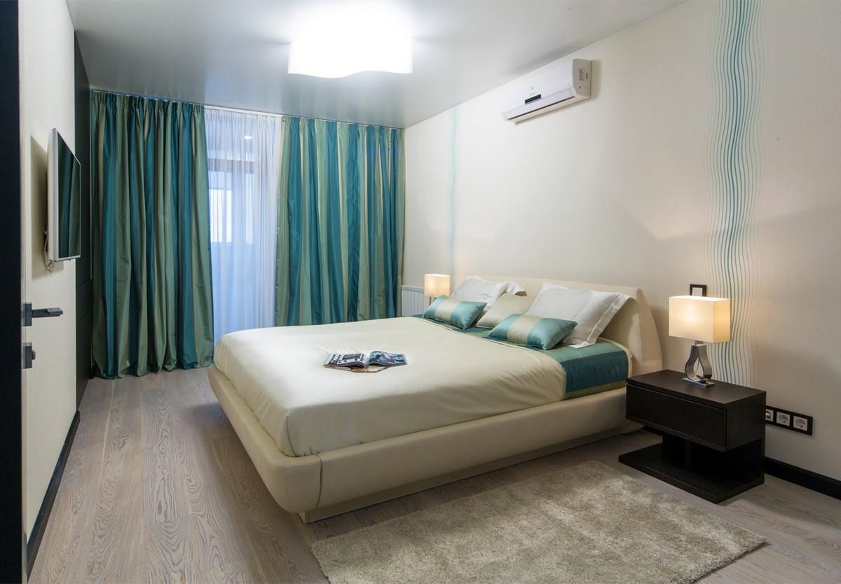 натяжные потолки в спальне дизайн идеи
