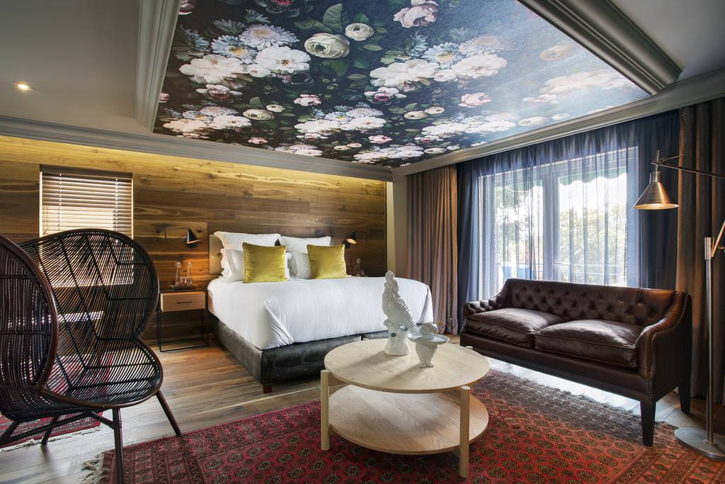 натяжные потолки в спальне фотопечать