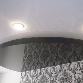 натяжные потолки в спальне фото оформление