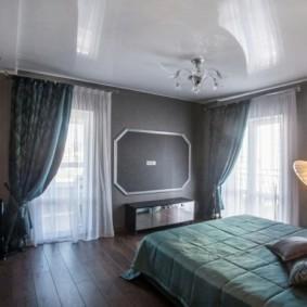 натяжные потолки в спальне варианты идеи