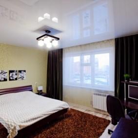 натяжные потолки в спальне идеи вариантов
