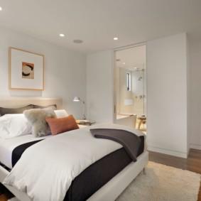 натяжные потолки в спальне виды