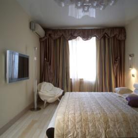 натяжные потолки в спальне идеи оформление