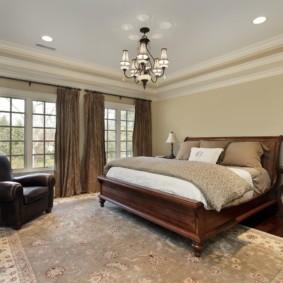 натяжные потолки в спальне фото идеи