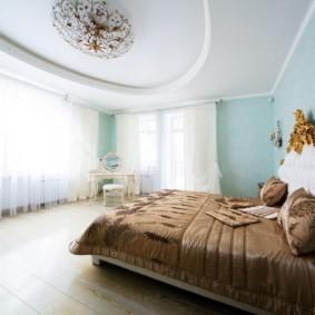 натяжные потолки в спальне идеи дизайн