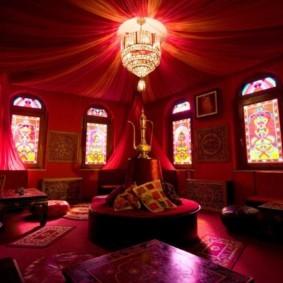 интерьер комнаты в восточном стиле фото дизайн
