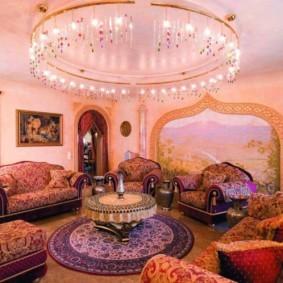 интерьер комнаты в восточном стиле дизайн идеи
