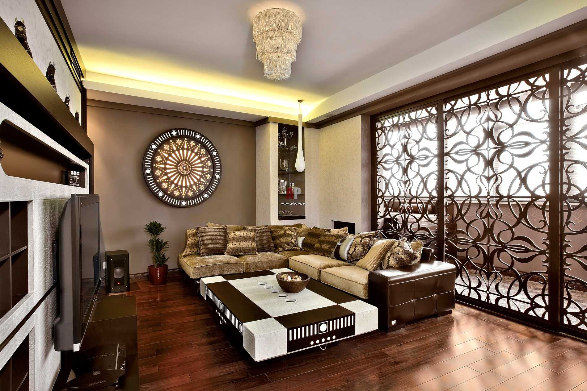 азиатский стиль в гостиной