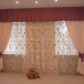 шторы в зал на два окна фото дизайн