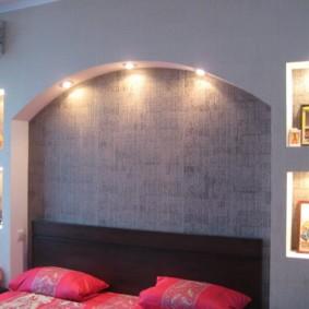 ниша из гипсокартона в спальне дизайн идеи