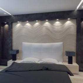 ниша из гипсокартона в спальне виды декора