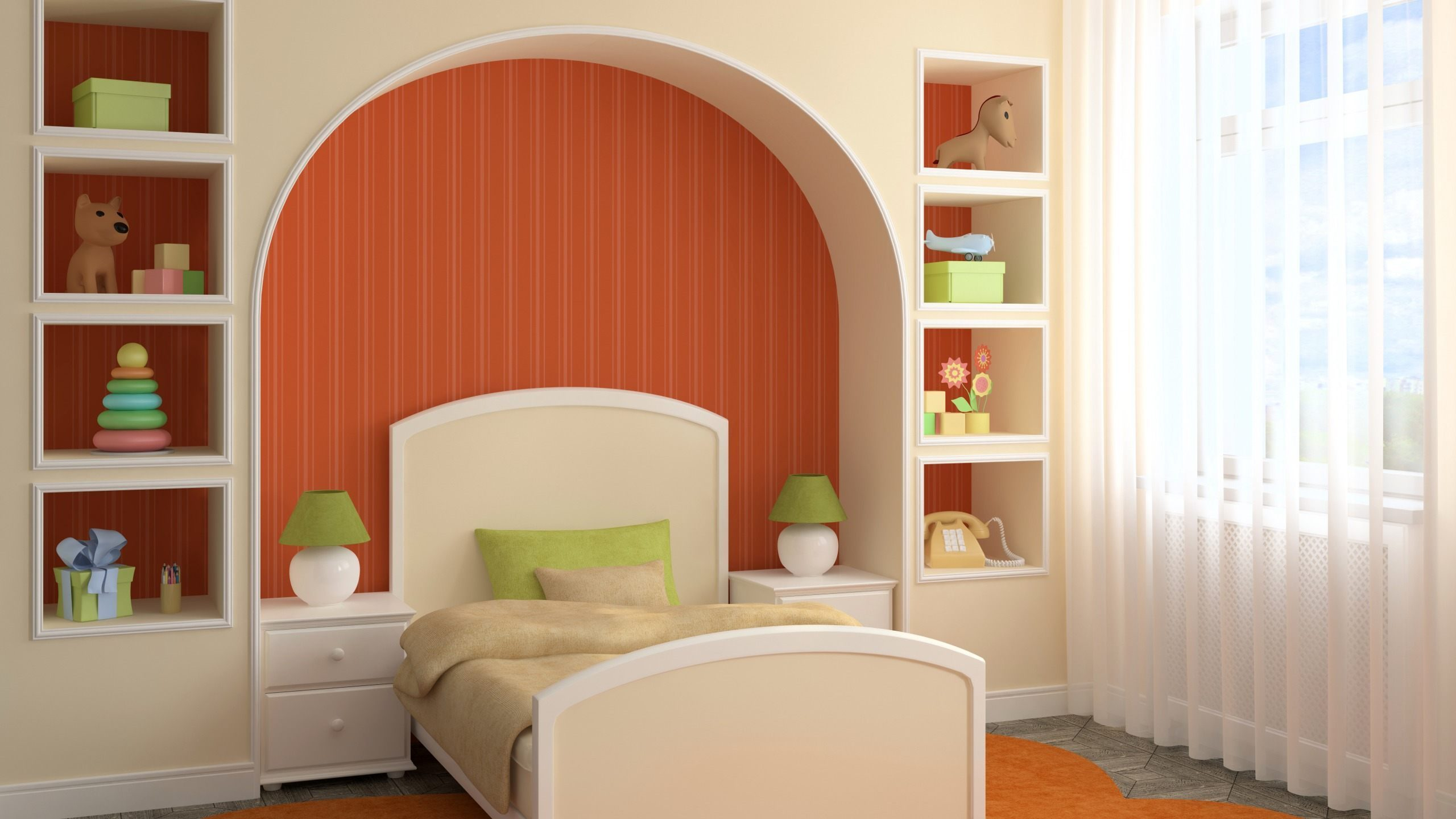 ниша из гипсокартона в спальне дизайн