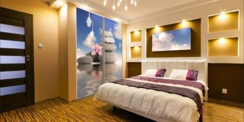 ниша из гипсокартона в спальне фото декор