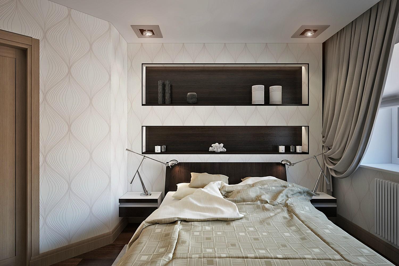 ниша из гипсокартона в спальне фото дизайн