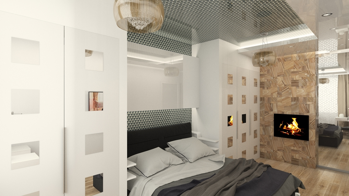 ниша из гипсокартона в спальне идеи дизайн