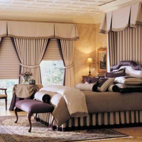 шторы в зал на два окна фото дизайна