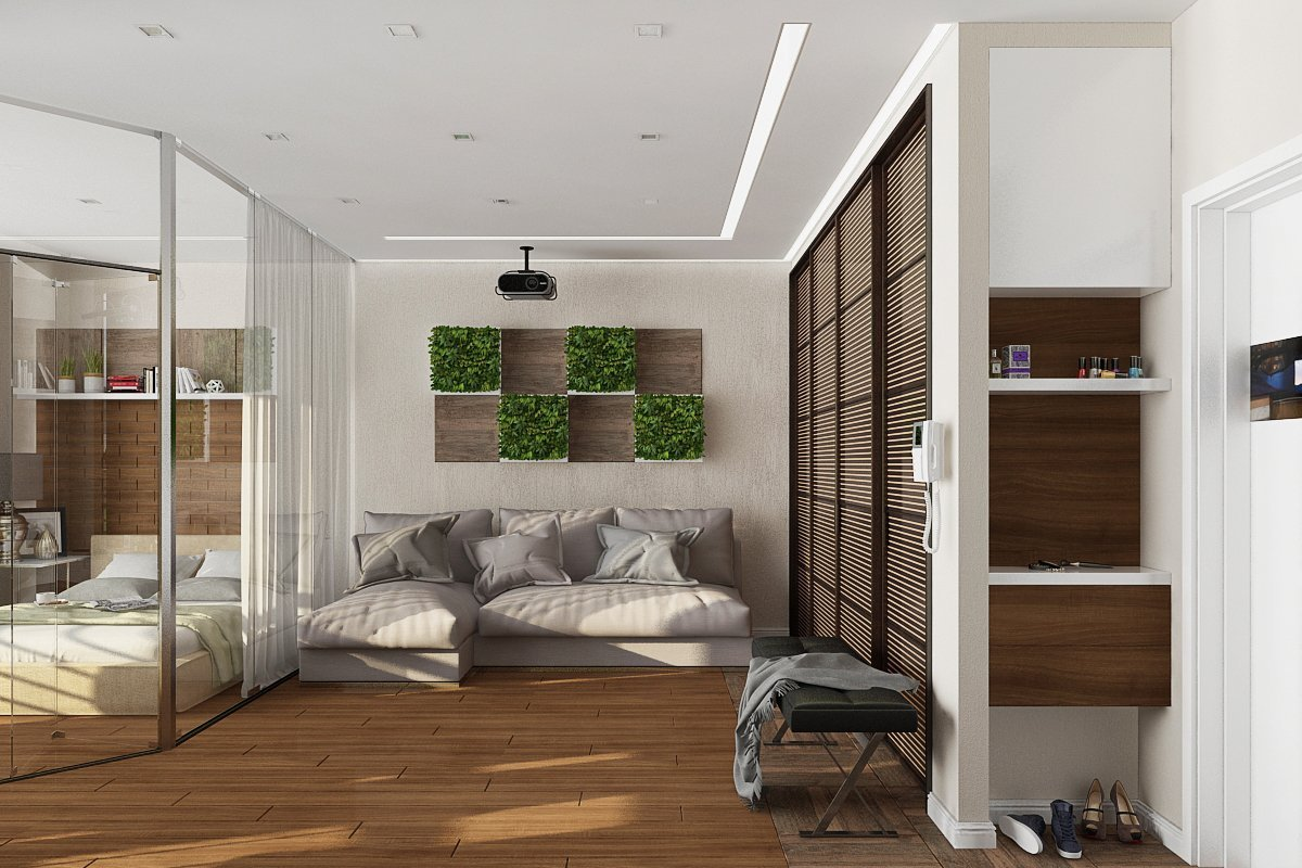 однокомнатная квартира 30 кв м дизайн интерьера