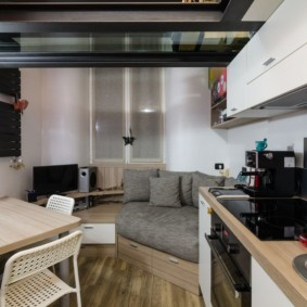 однокомнатная квартира 30 кв м дизайн проект