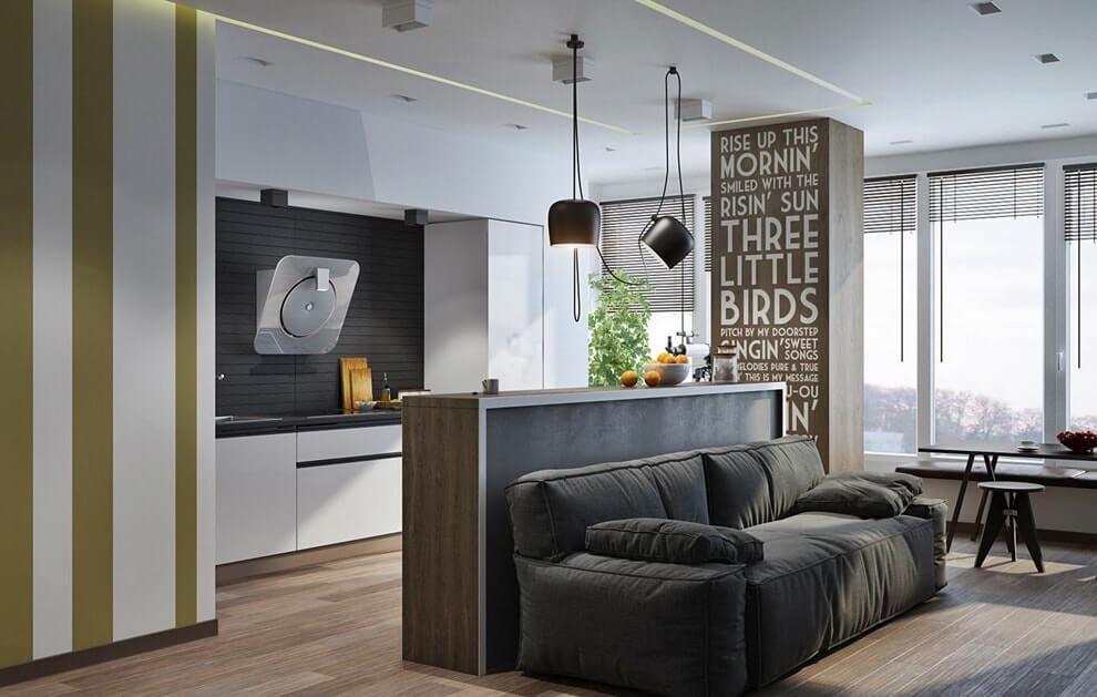 однокомнатная квартира 30 кв м мебель