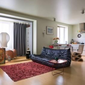 однокомнатная квартира 30 кв м современный дизайн