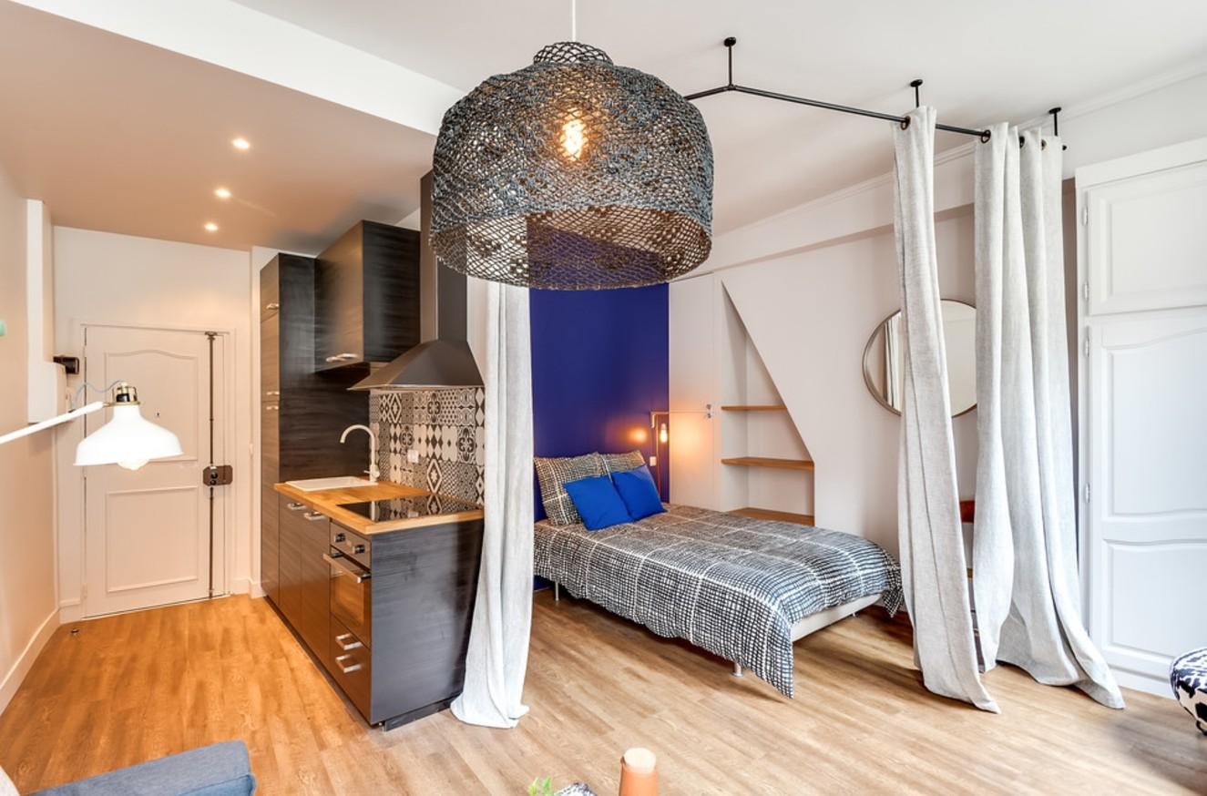 однокомнатная квартира 30 кв м спальня