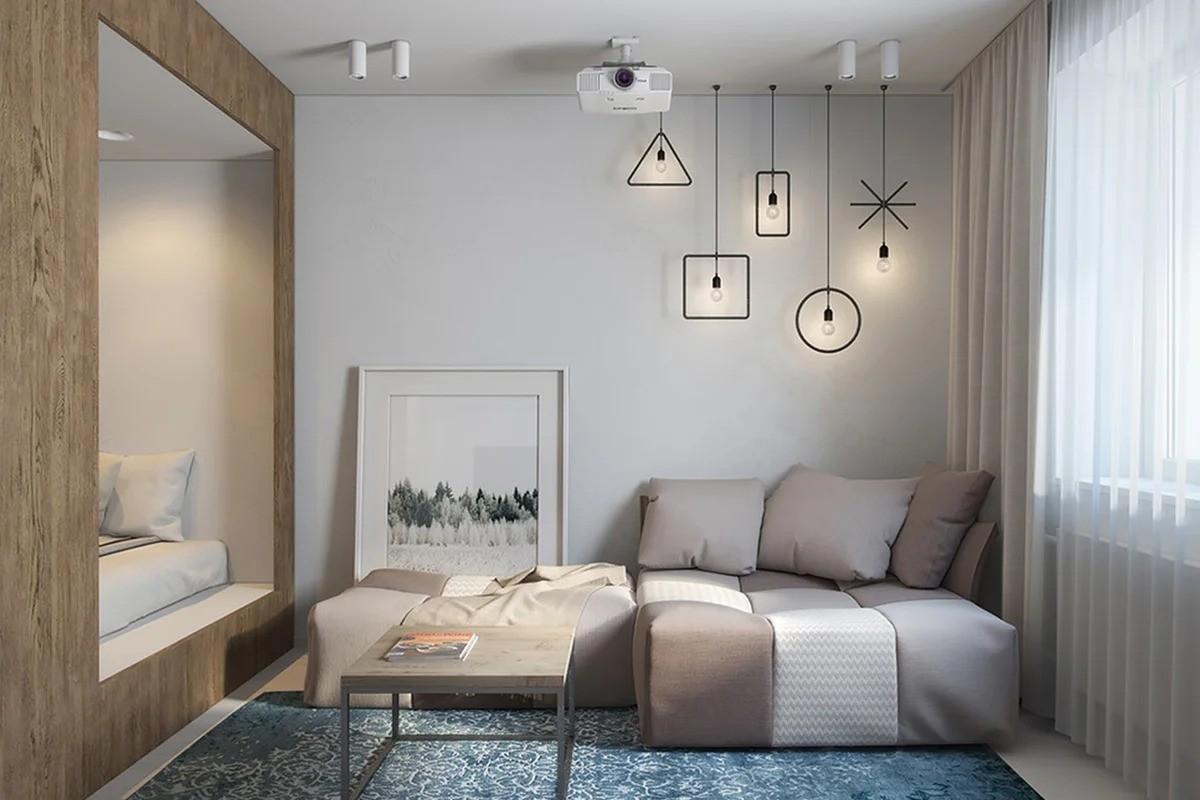 однокомнатная квартира 34 кв м мебель