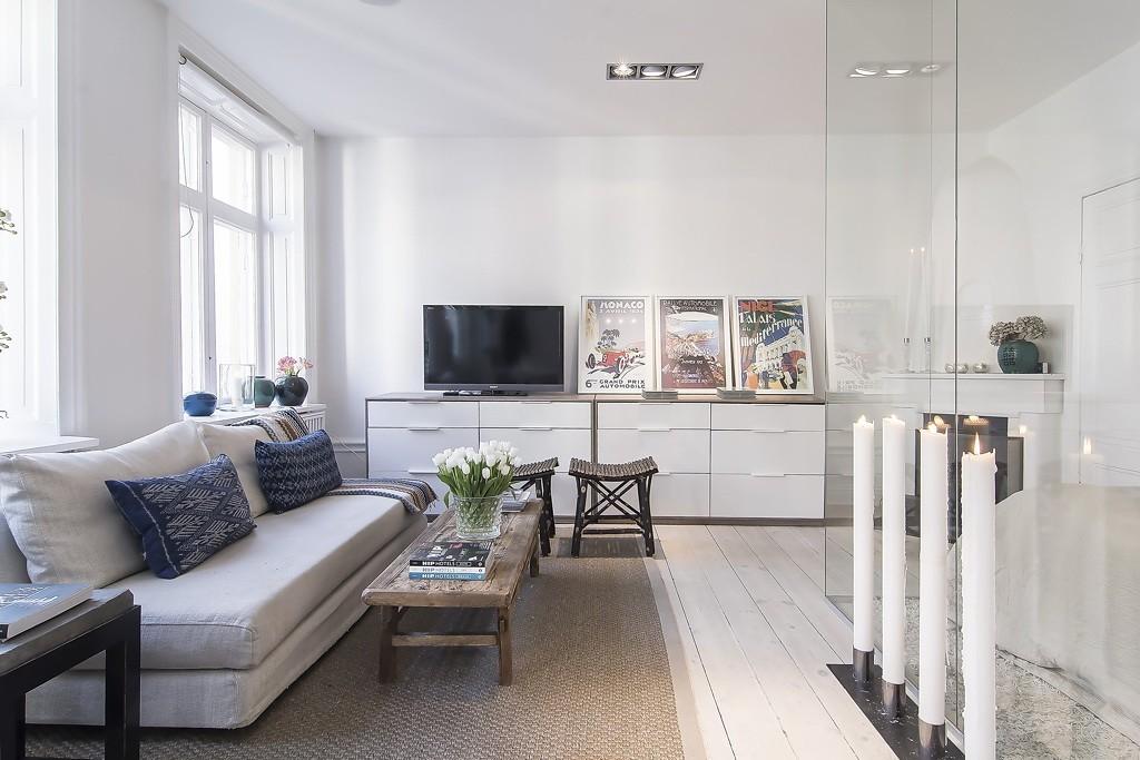 однокомнатная квартира 34 кв м скандинавский стиль фото