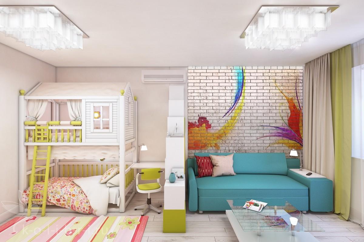 однокомнатная квартира для семьи с детьми