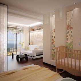 однокомнатная квартира для семьи с ребенком декор фото