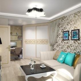 однокомнатная квартира для семьи с ребенком фото декора