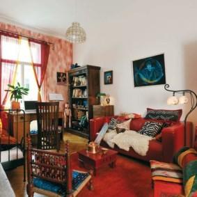 однокомнатная квартира для семьи с ребенком декор идеи