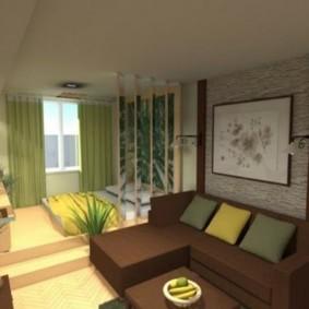 однокомнатная квартира для семьи с ребенком идеи декора