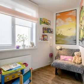 однокомнатная квартира для семьи с ребенком интерьер