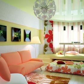 однокомнатная квартира для семьи с ребенком оформление фото