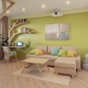 однокомнатная квартира для семьи с ребенком оформление идеи