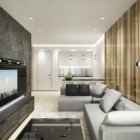 однокомнатная квартира в стиле минимализм