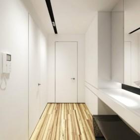 однокомнатная квартира в стиле минимализм прихожая