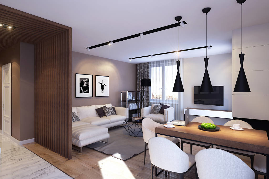 освещение трехкомнатной квартиры
