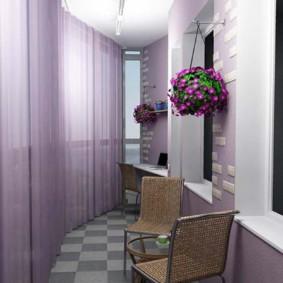 отделка балкона в квартире декор фото