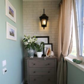 отделка балкона в квартире фото декора