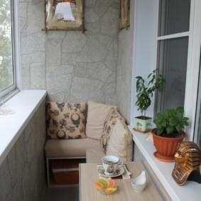 отделка балкона в квартире декор идеи