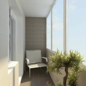 отделка балкона в квартире интерьер идеи