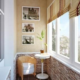 отделка балкона в квартире идеи интерьер