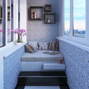 отделка балкона в квартире фото виды